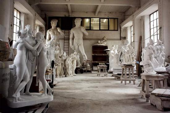 Laboratorio di marmo a Pietrasanta
